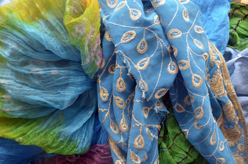 Foulards traditionnels indiens en vrac