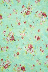 decorative grunge background with Vintage floral fabric
