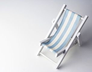 Beach chair on white background