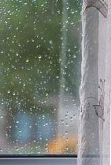 Raindrops on windows glass
