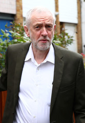 Jeremy Corbyn the leader of Britain's opposition Labour Party leaves his home in London