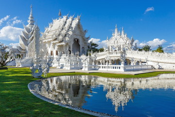 Wat Rong Khun , temple, buddhist temple of Thailand.