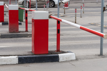 Red Security barrier