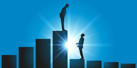 évolution de carrière - Leadership - leader - autorité - domination - chef - gagnant