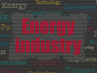 Industry concept: Energy Industry on wall background