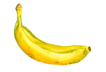Ripe yellow banana