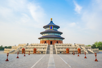 Foto auf Leinwand Beijing Temple of Heaven landmark of Beijing city, China