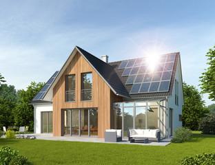 Haus 2 mit Wintergarten und Solardach