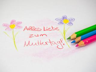 Alles Liebe zum Muttertag - Zeichnung Kind