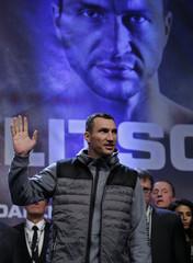 Wladimir Klitschko during the weigh-in