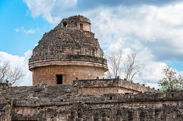 El Caracol or'The Snail', an Observatory in Mayan times and a Ruin at Chichen Itza in Mexico