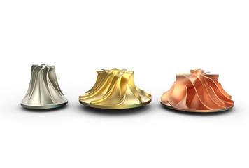 3D illustration of turbo impeller