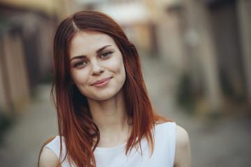 Portrait of smiling Caucasian woman