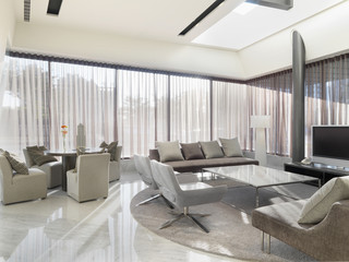 Sitting area with modern furniture