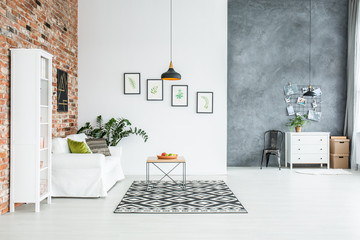 Stylish decor of room