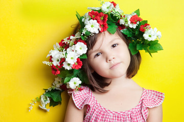 Girl in a floral crown