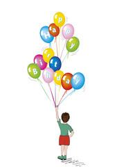 Compleanno bambino con palloncini auguri