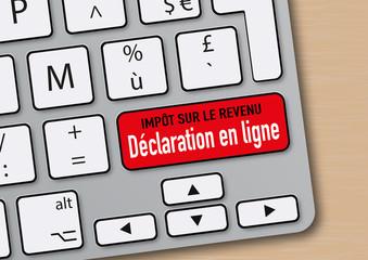 déclaration en ligne - impôt sur le revenu - web - clavier - internet