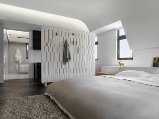 Modern Bedroom with platform bed