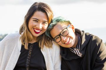 Portrait of smiling Asian women