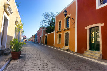 Fototapete - Colorful Street in Valladolid