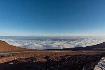 View from the top of the Haleakala volcano crater on Maui