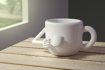 coffee cup drink a cup of coffee, 3d renders