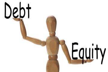 Importance of debt versus equity