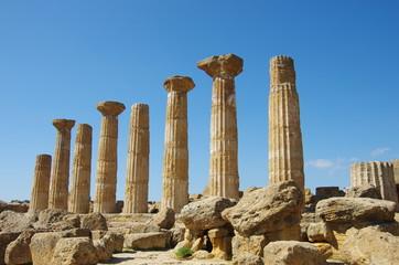 temple d'héraclès agrigente sicile