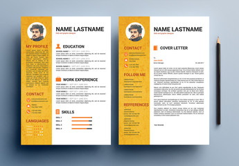 Resume and Cover Letter Layouts in Two Sizes 1