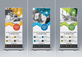 Three Marketing Kiosk Banners 1