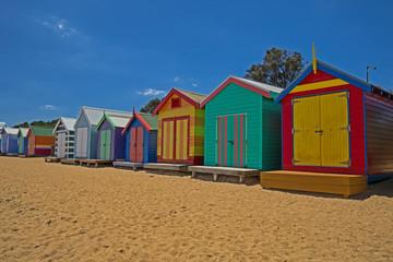 Badehäuser in Brighton Beach