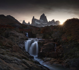 Sunset on Mount Fitz Roy, Patagonia, Argentina