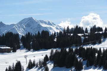 Rhône-Alpes - Savoie - Les Saisies - Nuages et ciel bleu