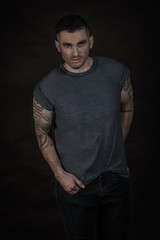 Good looking Male model in Studio