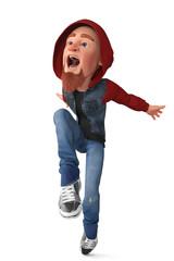 street dance boy cartoon
