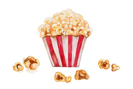 Popcorn - Watercolor