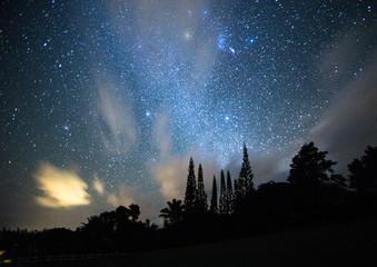 Midnight Stars in Kauai, Hawaii Fotomurales