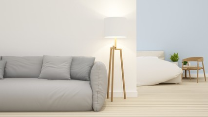 Bedroom space in home -3D Rendering