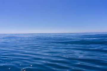 Deep blue of ocean and sky