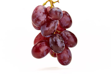 Close up of organic red grapes