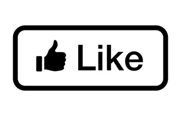 Thumbs up like button line art vector icon for social networks / social media apps and websites