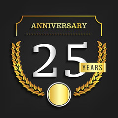 25 years anniversary logo. Vector illustration.