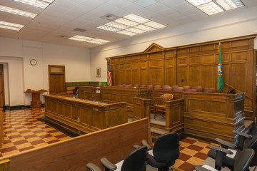Courtroom classic architecture wood