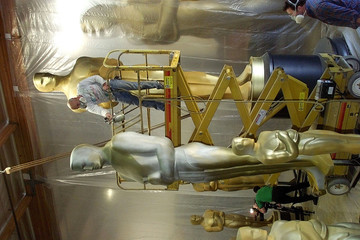 OSCAR PROP STATUES READIED FOR ACADEMY AWARDS.
