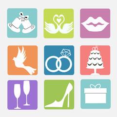 various wedding icons