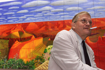 ROYAL ACADEMY DISPLAYS DAVID HOCKNEY PICTURES OF GRAND CANYON.