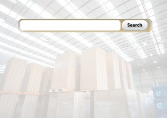 Search Bar with warehouse boxes background