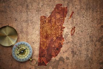 map of belize on a old vintage crack paper