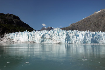 Margerie Glacier glistening in the sun, Glacier Bay National Park, Alaska